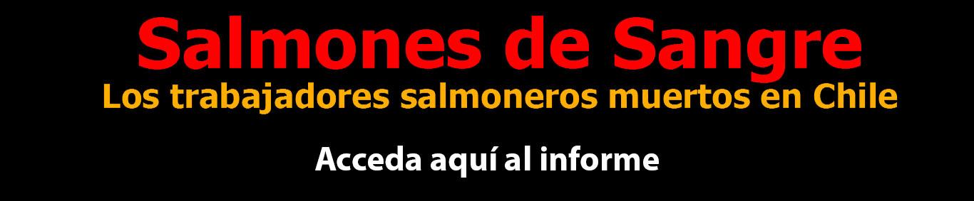 Informe Salmones de Sangre. La muerte de mujeres y homnbres en la industria del salmón